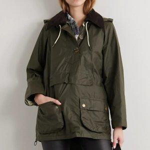 BARBOUR X ALEXACHUNG Cocowax Poncho Jacket Olive